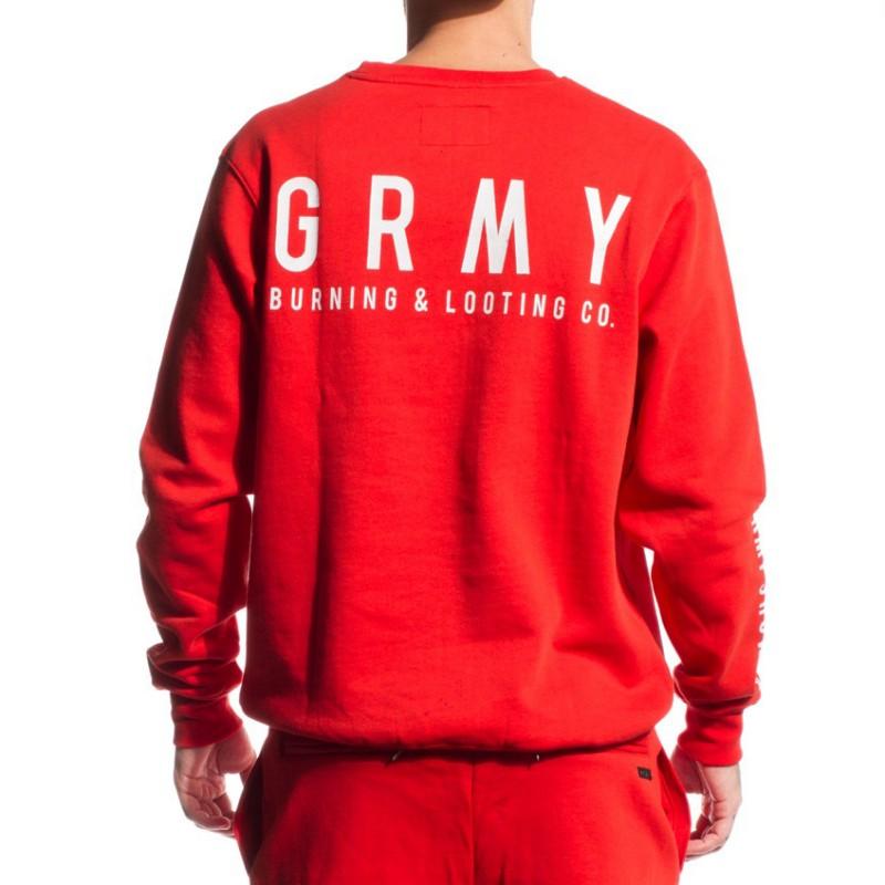 Sudadera Grimey Core Crew Red - Tienda online 6ed88d7e4d3