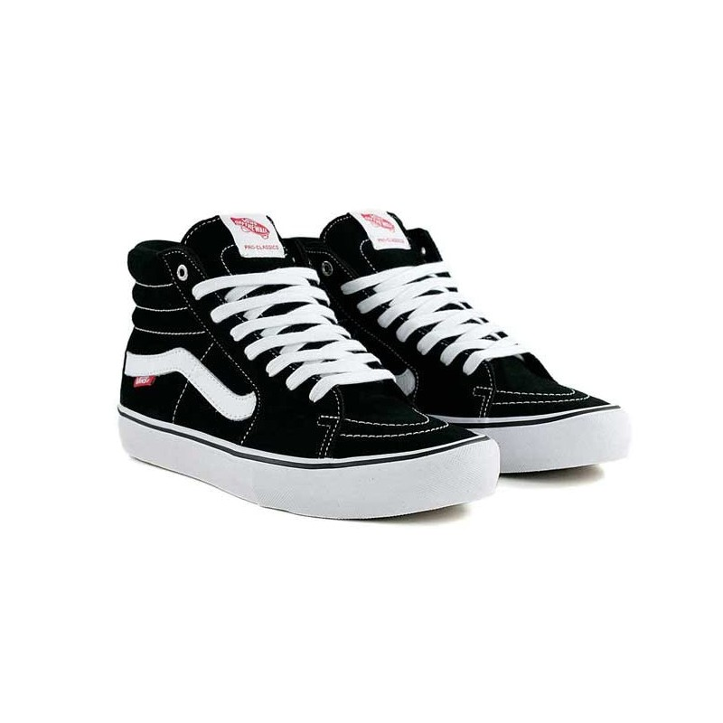 e784171496bd4 Zapatillas Skate Vans Sk8-Hi Pro Black White Negras Chico - Chica
