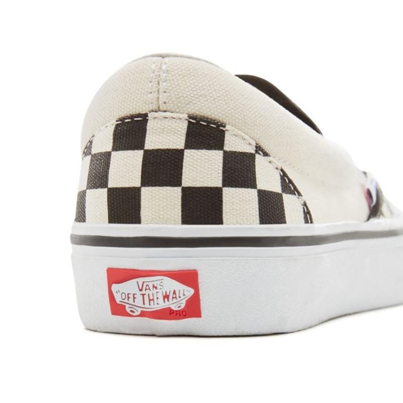7393984af Inicio  Zapatillas Vans Slip-On Pro Checkerboard Black White. 13%descuento