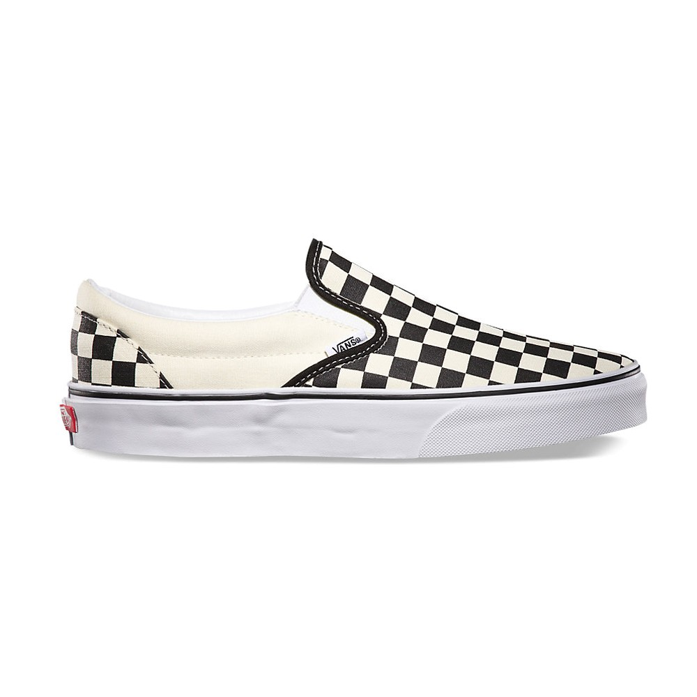 9f9341e878 Zapatillas Vans Classic Slip-On Black White Checkerboard White
