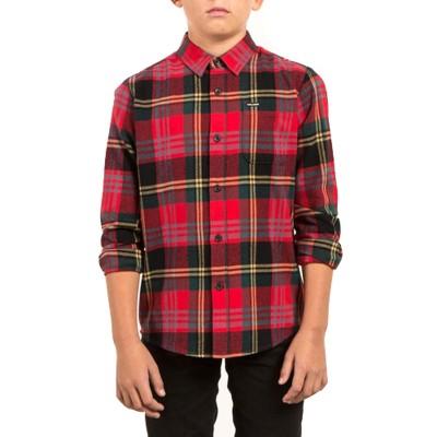 Camisa Manga Larga Volcom Caden True Red Niño